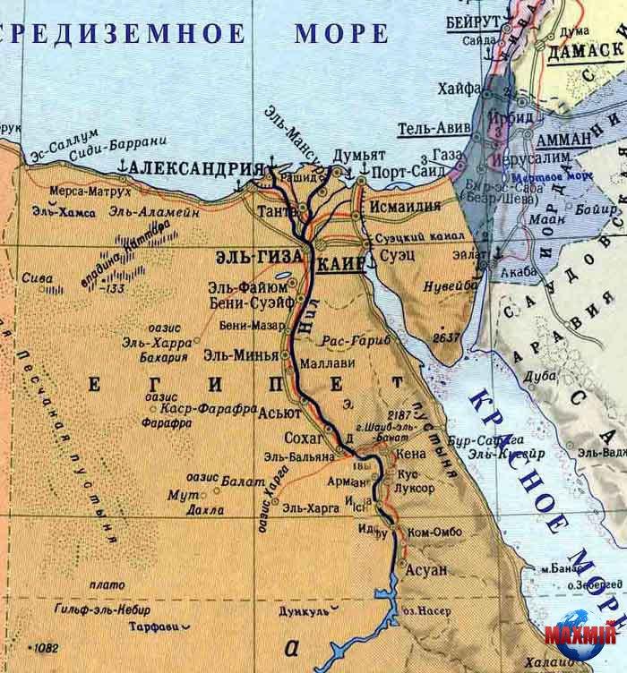Karta Egipta Map Of Egypt Maxmir Net Mir Puteshestvij Oteli