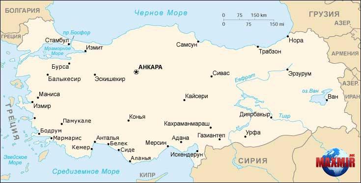 Карта турции map of turkiye турция карта