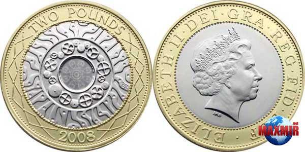 Монеты 2 фунта великобритании генрих 8 в молодости